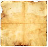 Vintage aged old paper. Original background or texture. Royalty Free Stock Photography