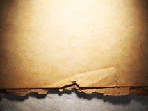 Vintage aged old paper. Original background or texture. Close up Stock Images