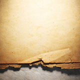 Vintage aged old paper. Original background or texture. Stock Photography