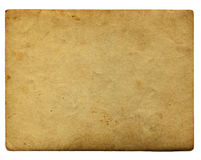Vintage aging paper with space for text isolated on white Stock Photography