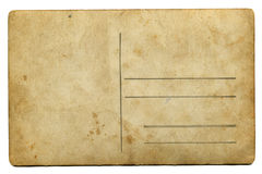 Vintage aging paper with space for text isolated on white Royalty Free Stock Photo