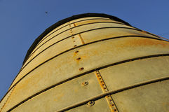 Vintage Agricultural Silo. Vintage Agricultural Grain Silo from Below in Central Valley, California Stock Image