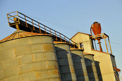 Vintage Agricultural Silos Royalty Free Stock Photography