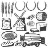 Vintage Agriculture Elements Set Royalty Free Stock Images