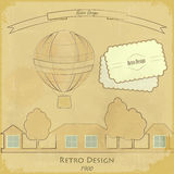 Vintage Air Balloon Retro card Royalty Free Stock Photography