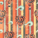 Vintage air balloon seamless pattern Stock Photography