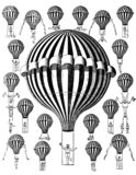 VIntage air balloons clip art stock illustration