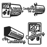 Vintage air conditioning emblems Royalty Free Stock Image