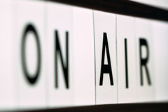 Vintage On Air live broadcast sign Stock Photos