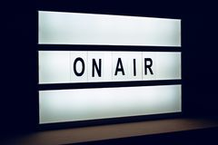 Vintage On Air live broadcast sign Royalty Free Stock Photography