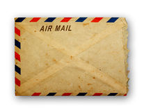Vintage air mail envelope. Stock Image