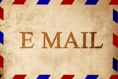 Vintage air mail envelope Royalty Free Stock Image