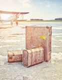Vintage air travel concept Royalty Free Stock Photo
