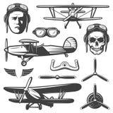 Vintage Aircraft Elements Set royalty free illustration