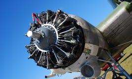Vintage aircraft engine Stock Photos