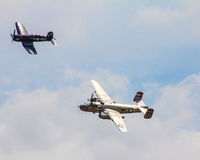 Vintage Aircraft at the 2015 MCAS Air Show, Beaufort, SC. Royalty Free Stock Photo