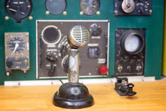 Vintage Aircraft Radio Set. Communicates messages to military planes flying in the area Stock Images