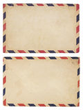 Vintage  Airmail Envelope Stock Photos