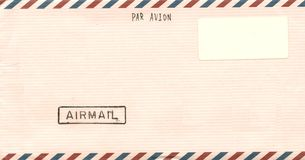 Vintage airmail envelope. For you design Stock Photography