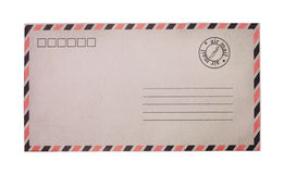 Vintage airmail envelope. Isolated on white background Royalty Free Stock Photography