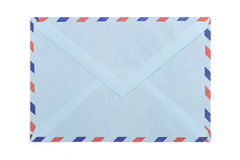 Vintage airmail envelope. Over white background Royalty Free Stock Photos