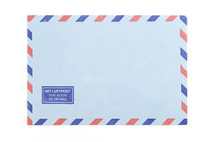 Vintage airmail envelope. Over white background Royalty Free Stock Images