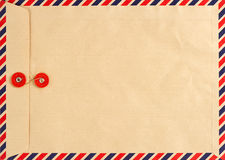 Vintage airmail envelope. paper background Royalty Free Stock Photography