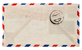Vintage airmail envelope. retro post letter. Grungy paper background Royalty Free Stock Images