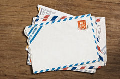 Vintage airmail envelopes Stock Photos
