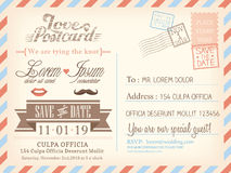 Free Vintage Airmail Postcard Background Template For Wedding Invitation Royalty Free Stock Photos - 41956108