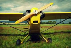 Vintage airplane Stock Photography