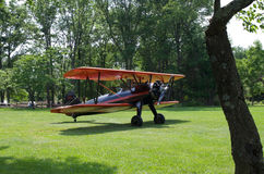 Vintage Airplane Biplane Aviation Stock Photo