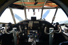 Vintage airplane cockpit Royalty Free Stock Images