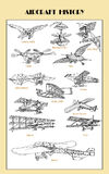 Vintage airplane collection Stock Image