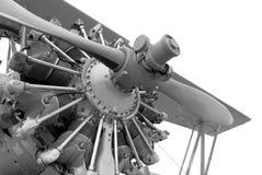 Vintage airplane engine. Military vintage airplane engine detail Stock Image