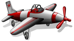 A vintage airplane. Illustration of a vintage airplane on a white background Royalty Free Stock Photos