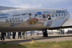Vintage airplane at MAKS International Aerospace Salon Royalty Free Stock Photo