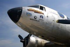 Vintage airplane at MAKS International Aerospace Salon Stock Photo