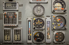 Vintage airplane panel controls Stock Photography