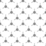 Vintage airplane pattern. Biplane propellers seamless background. Retro Plane wallpaper and design elements. Aviation Royalty Free Stock Photos