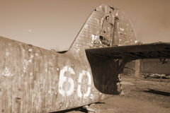 Vintage airplane in sepia Royalty Free Stock Photos