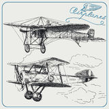Vintage airplanes royalty free illustration