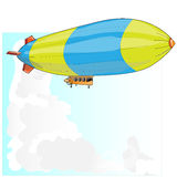 Vintage Airship. Dirigible Balloon. Royalty Free Stock Photos