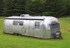Vintage Airstream Travel Trailer Stock Image
