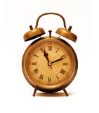 Vintage Alarm Clock. On white Royalty Free Stock Photos