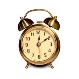 Vintage Alarm Clock. On white Royalty Free Stock Photo