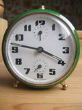 Vintage alarm clock. Alarm clock from 1970 Royalty Free Stock Photo