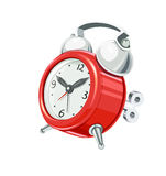 Vintage alarm clock with arrow and bells Stock Images