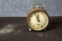 Vintage alarm clock. stock photography