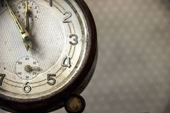 Vintage alarm clock. stock images